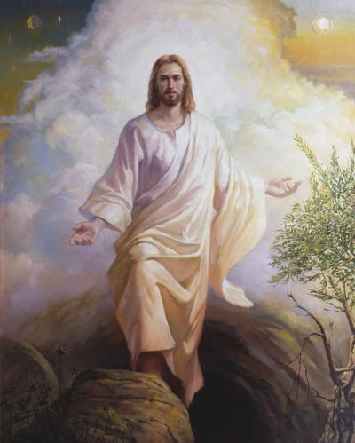 """The Resurrected Christ"" by Wilson J. Ong. Image via LDS Media Library"