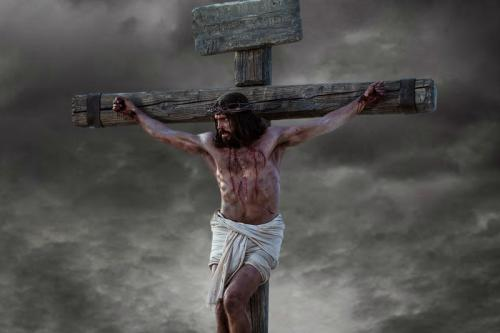 The crucifixion of Jesus Christ. Image via lds.org