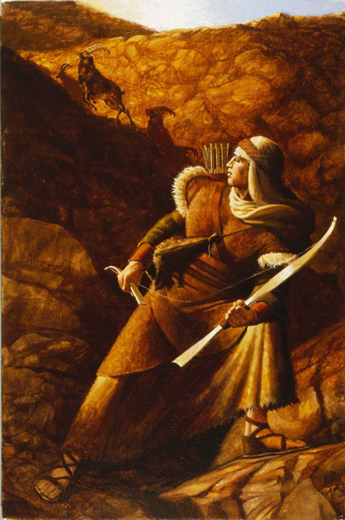 Nephi's Broken Bow by Michael Jarvis Nelson via lds.org