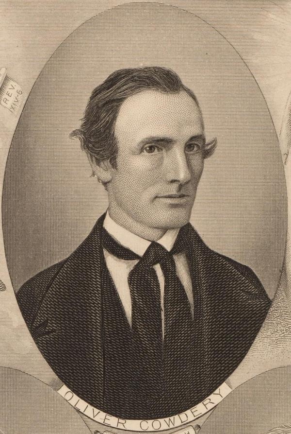 Portrait of Oliver Cowdery via the Joseph Smith Papers