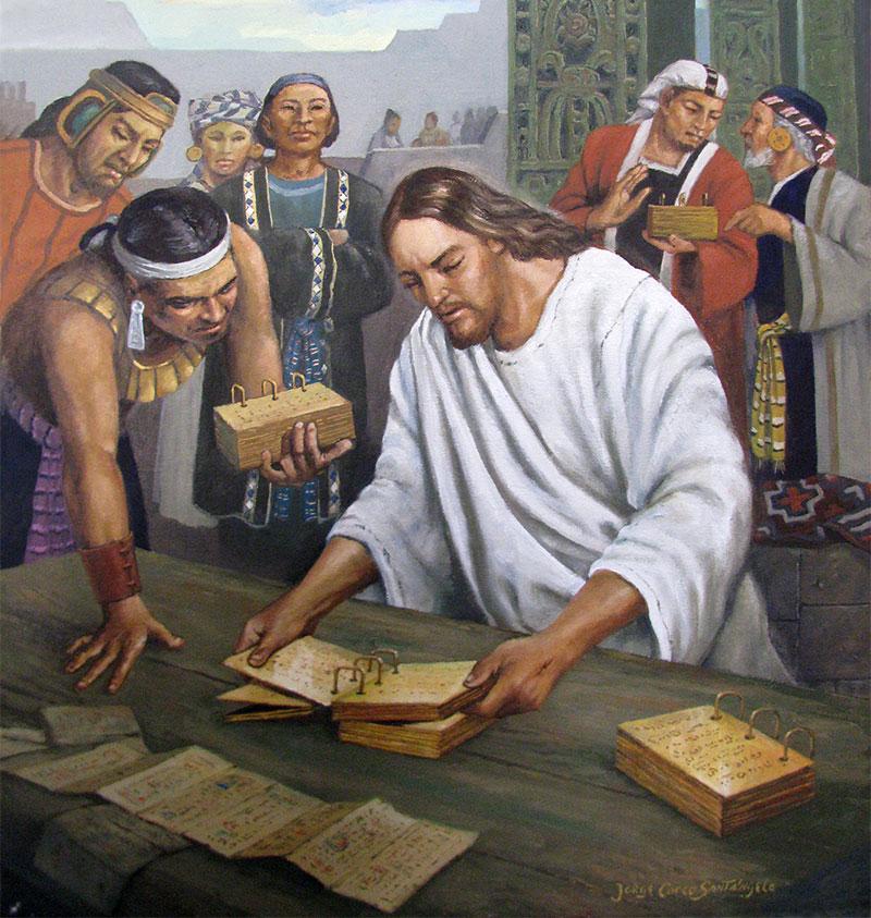 Jesucristo revisa las planchas by Jorge Cocco.