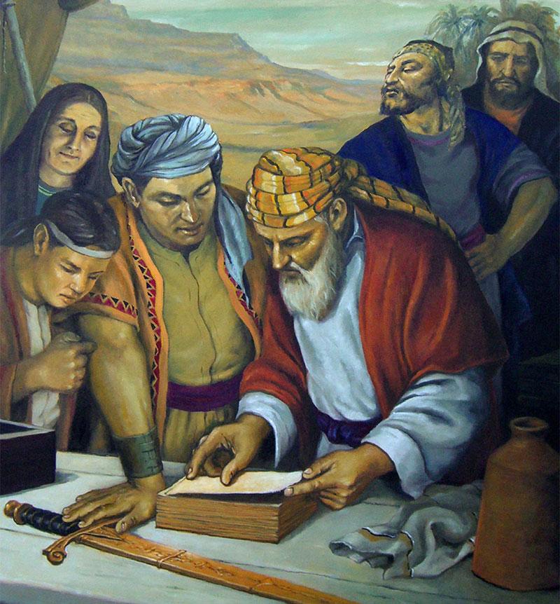 Lehi revisa las planchas by Jorge Cocco.