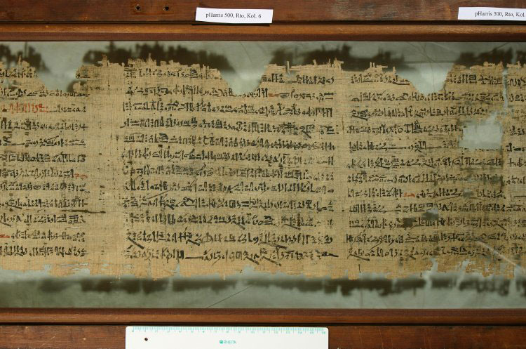 18th Dynasty Papyrus containing Harper's Song from the Tomb of Intef. Image from the British Museum via ancient.eu