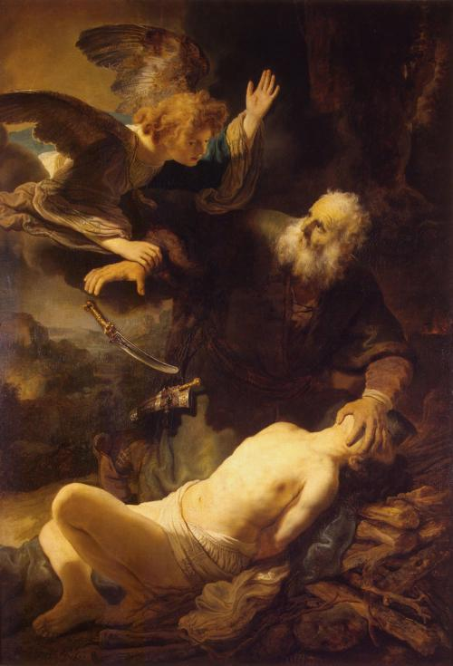 Abraham's Sacrifice by Rembrandt via Wikicommons