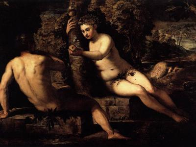 The Temptation of Adam by Jacopo Tintoretto via Wikimedia Commons