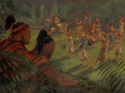Amulon and Lamanite Daughters by James Fullmer