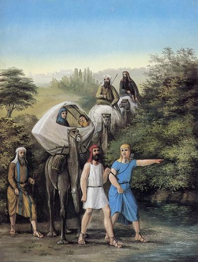 """Departure of Lehi and His Family from Jerusalem"" by C.C.A. Christensen"