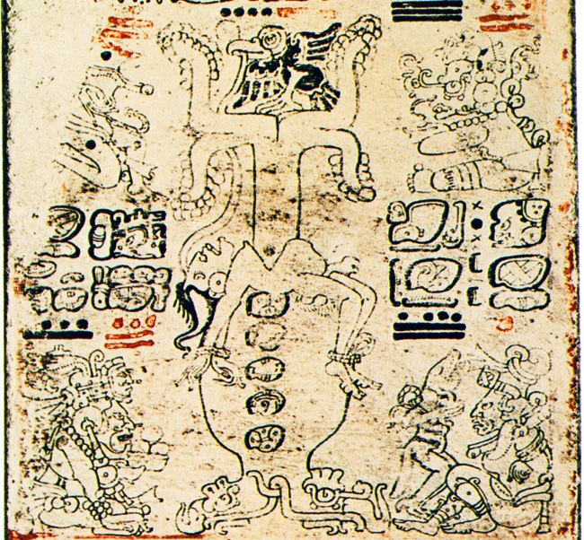 Anthropomorphic Tree from Dresden Codex 3