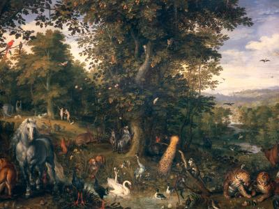 The Garden of Eden with the Fall of Man by Jan Brueghel the Edler. Image via Wikimedia Commons