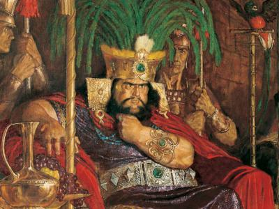 Detail of Abinadi Appearing Before King Noah by Arnold Friberg. Image via lds.org