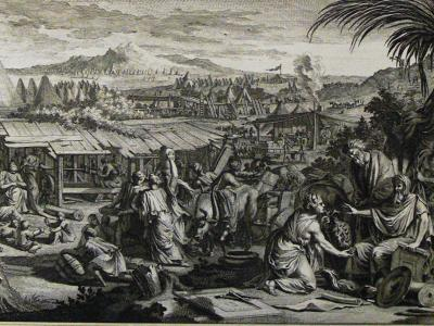Illustration of the children of Israel offering sacrifices to the Lord. Image by Philip Medhurst via Wikimedia Commons