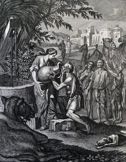 Rebekah at the Well from the Phillip Medhurst Picture Torah