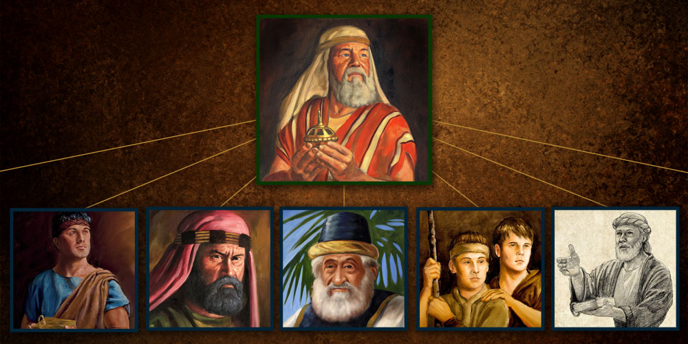 The seven Lehite tribes of the Book of Mormon. Image created by Book of Mormon Central, featuring paintings by James Fullmer.