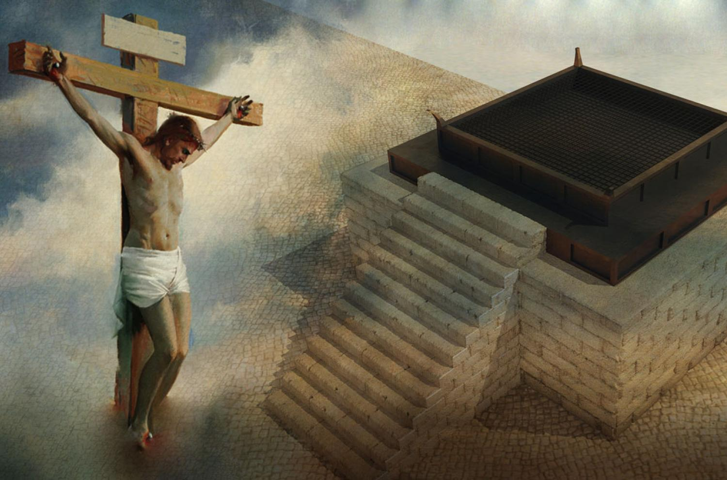 Image featuring The Crucifixion by Harry Anderson and illustration by 2dmolier via Adobe Stock
