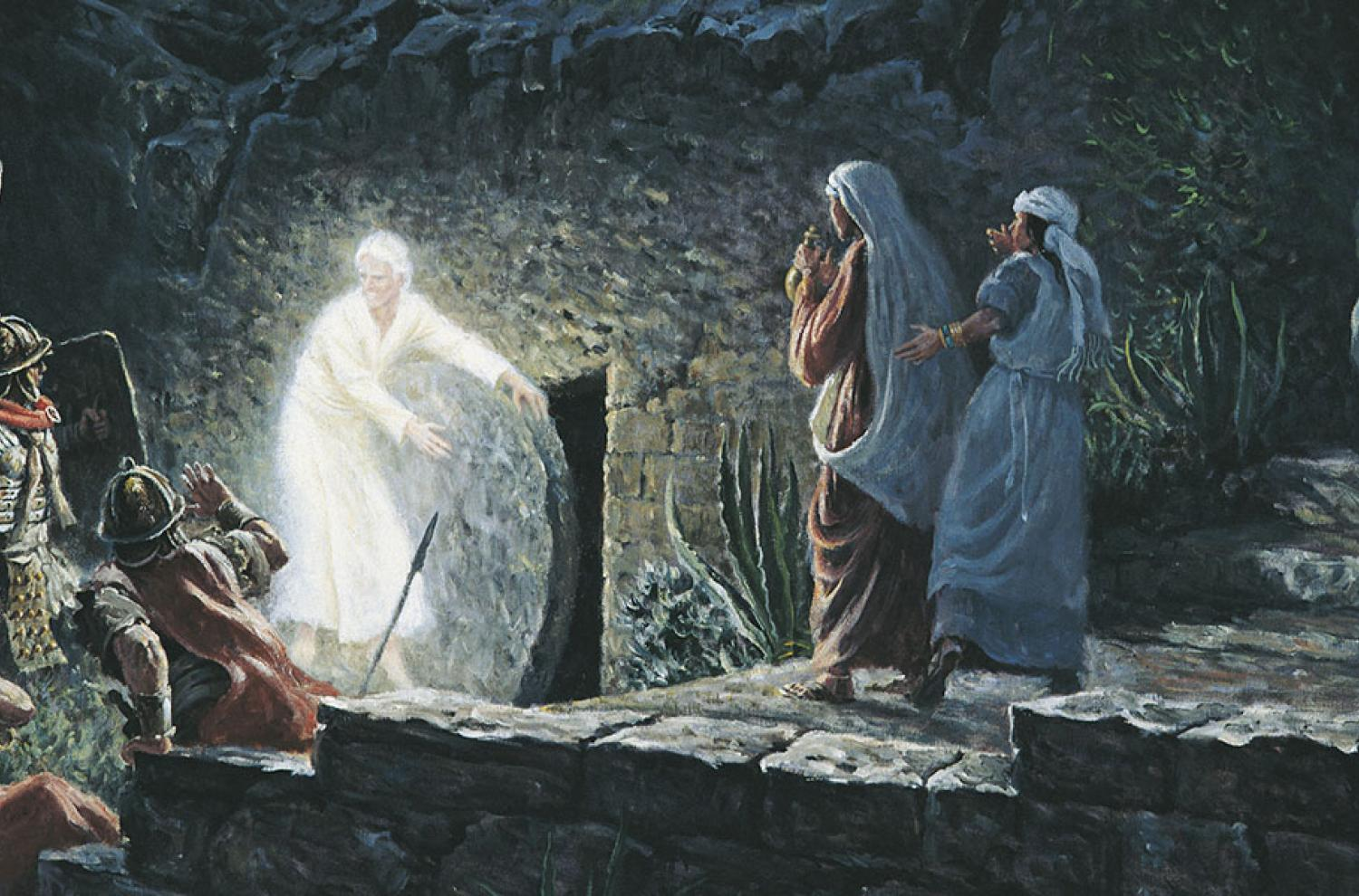"""The Empty Tomb"" by Clark Kelley Price via lds.org"