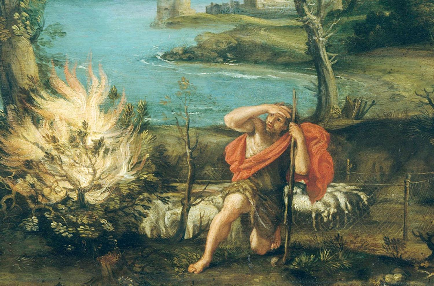 Landscape with Moses and the Burning Bush by Domenico Zampieri via The Met