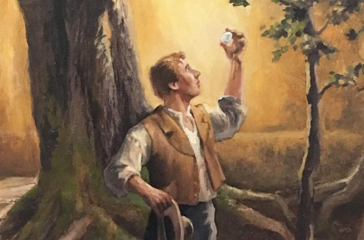 """""""Joseph with the Seer Stone"""" by Gary Ernest Smith via foursquareart.com"""