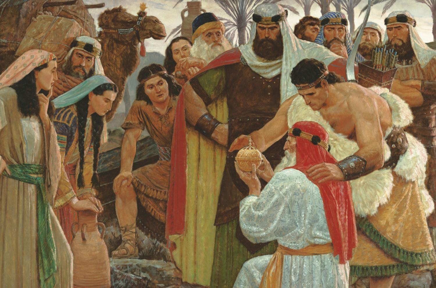 The Liahona by Arnold Friberg via lds.org