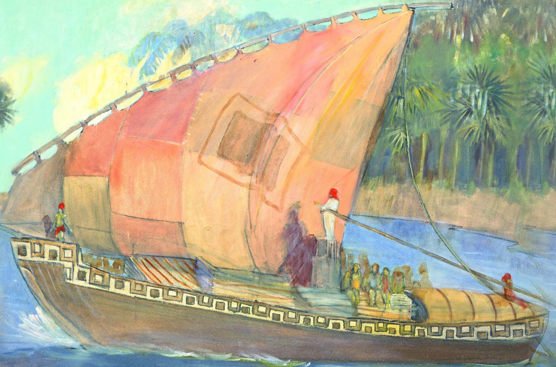 The Ship of Hagoth, Minerva Teichert