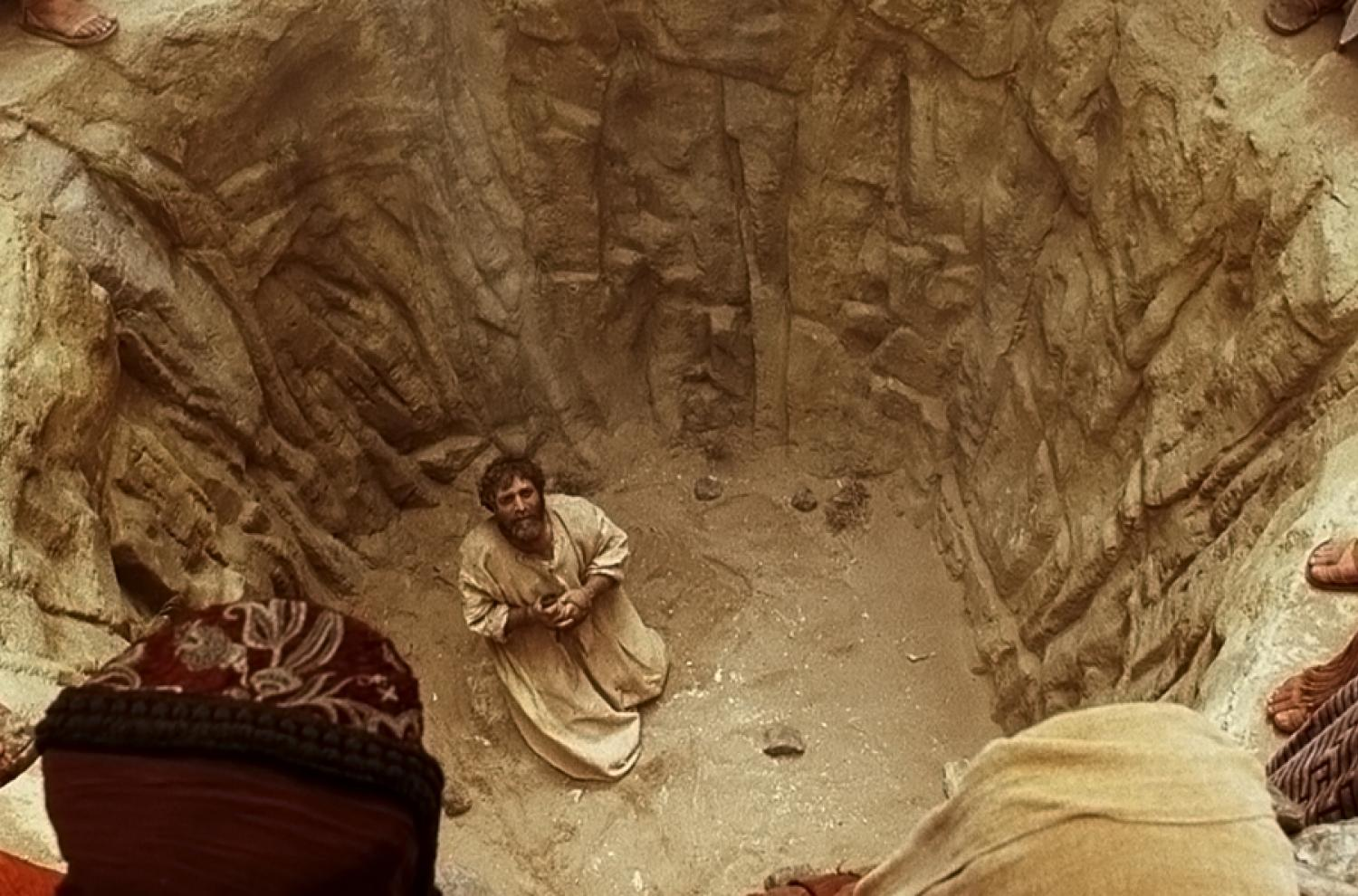 Stephen Prays as He is Stoned via lds.org