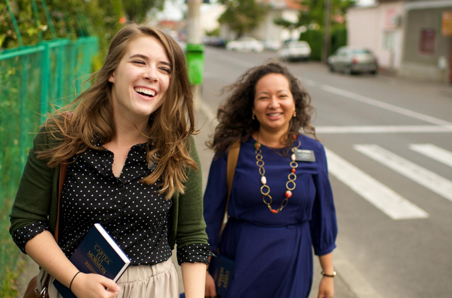 Romania Sister Missionaries via lds.org