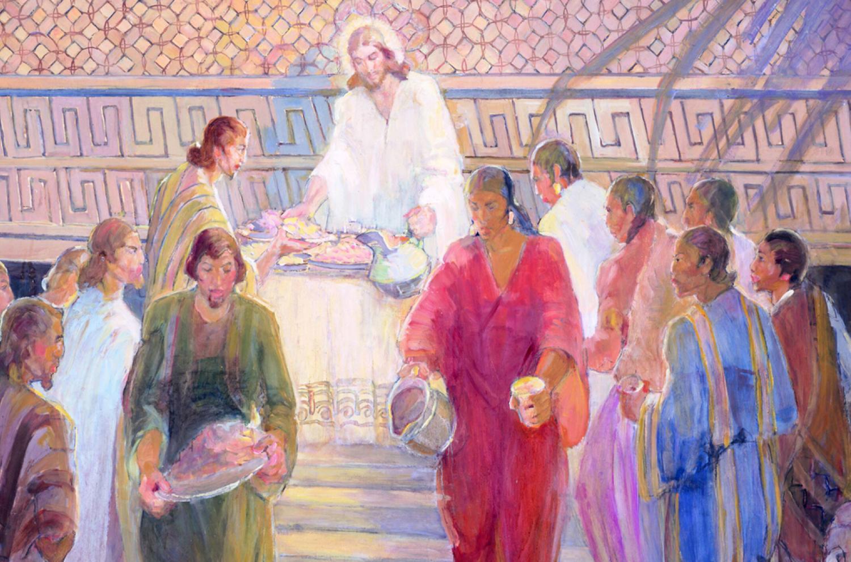 The Sacrament Mural by Minerva Teichert
