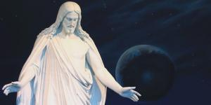 Christus Statue in Salt Lake City, image via lds.org