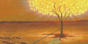 The Tree of Life bearing white fruit