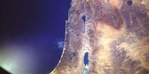 Satelite image of Israel