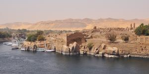 The ruins of the island of Elephantine