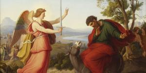 Balaam and the angel, painting from Gustav Jaeger, 1836 via Wikipedia