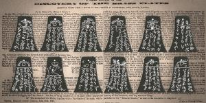 Illustration of the Kinderhook plates and the Nauvoo Neighbor broadside. Image via Book of Mormon Central