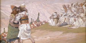 """""""The Meeting of Esau and Jacob"""" by James Tissot"""