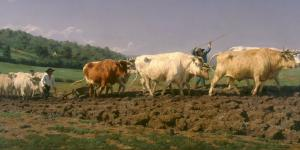 """Ploughing in Nevers"" by Rosa Bonheur"