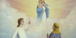 """Nephi's Vision of the Virgin and the Son of God"" by C. C. A. Christensen, via history.lds.org."