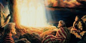 The Transfiguration of Christ by Greg K. Olsen. Image via churchofjesuschrist.org