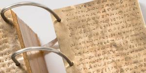 Replica of the gold plates with reformed Egyptian characters via Church News