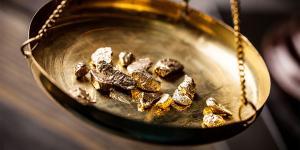 Image of raw gold via Adobe Stock.