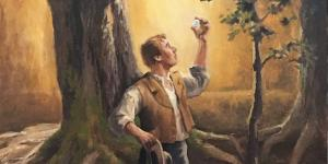 """Joseph with the Seer Stone"" by Gary Ernest Smith via foursquareart.com"