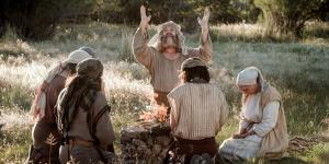 """Lehi and family offer burnt sacrifice"" via Gospel Media Library"