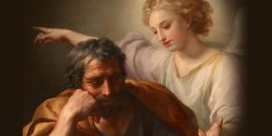 The Dream of St. Joseph by Anton Raphael Mengs. Image via Wikimedia Commons.