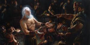 Abinadi Testifying before King Noah by Jeremy Winborg