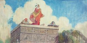 King Benjamin's Speech by Minerva Teichert