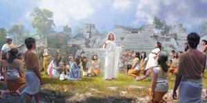 Christ and the Nephites by John Zamudio