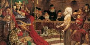 Abinadi Before King Noah, Arnold Friberg. Image via lds.org.