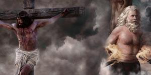 Image by Book of Mormon Central, featuring Abinadi by Briana Shawcroft and Jesus Christ on the Cross via lds.org