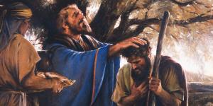 Melchizedek Blessing Abraham by Walter Rane via lds.org