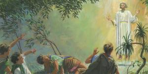 Angel Appears to Alma and the Sons of Mosiah by Jerry Thompson