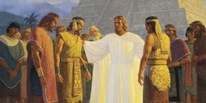 Christ with Three Nephite Disciples by Gary L. Kapp