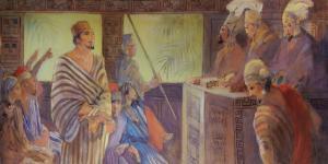 Abinadi Before King Noah by Minerva Teichert